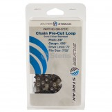 """Chain Loop Clamshell 72dl / 3/8"""", .050, S-chisel Standard"""