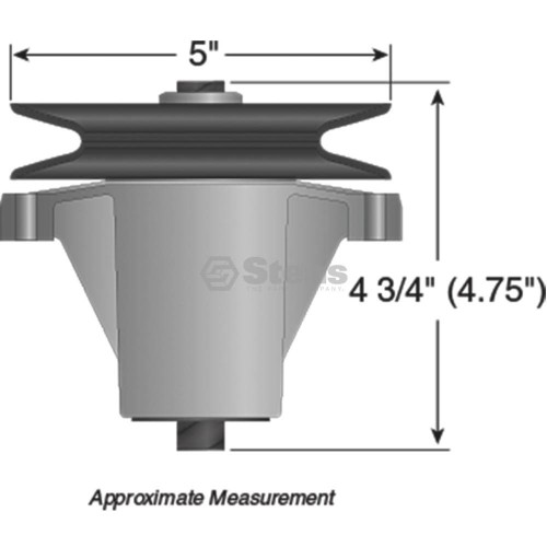 """2 Pack Spindle Assembly Fits 46/"""" MTD 918-0240 MTD 918-0430 Toro 112-0311 9286"""