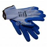Glove / Rubber Palm Coated String Knit