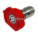 Quick Coupler Nozzle / 0 Degree, Size 4.0, Red